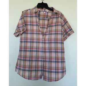 Vintage UNIQLO patterned short sleeved button down